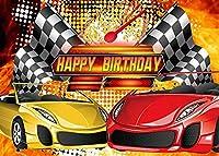 HD 7x5ftレーシングカーの背景誕生日の背景テーマパーティー写真の背景壁紙写真ブースの小道具BJLHFH65