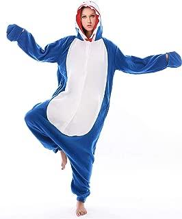 Adult Shark Costume Pajamas Cosplay Animal One Piece Homewear Sleepwear for Women Men