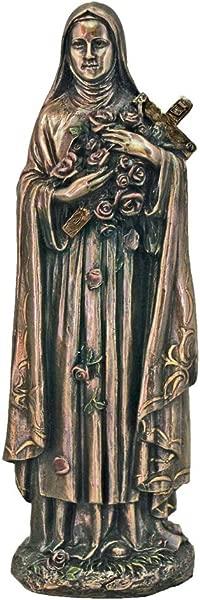 Woodington S Saint Therese Of Lisieux 8 Inch Bronze Statue