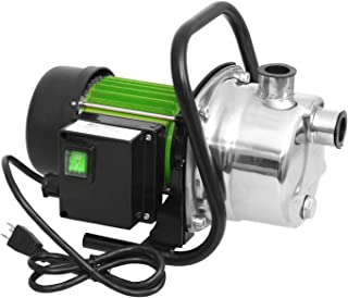 Angotrade 1.6HP Shallow Well Sump Pump, Portable Transfer Water Pump Stainless Booster..