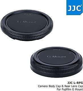 JJC Camera Body Cap & Rear Lens Cap Protector for Fujifilm G Mount Camera GFX 50S, GFX 50R & Fujinon GF Lens GF23mm GF45mm GF63mm GF110mm GF120mm GF250mm GF32-64mm, Replaces Fuji BCP-002 + RLCP-002