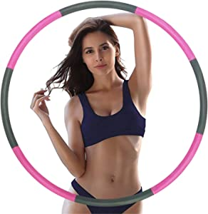 Exercise Hoops for Adults - Weighted Hoops for Exercise - Exercise Hoop for Kids, 2lb Weighted Exercise Hoop, 8 Detachable Sections - Professional Exercise Hoops