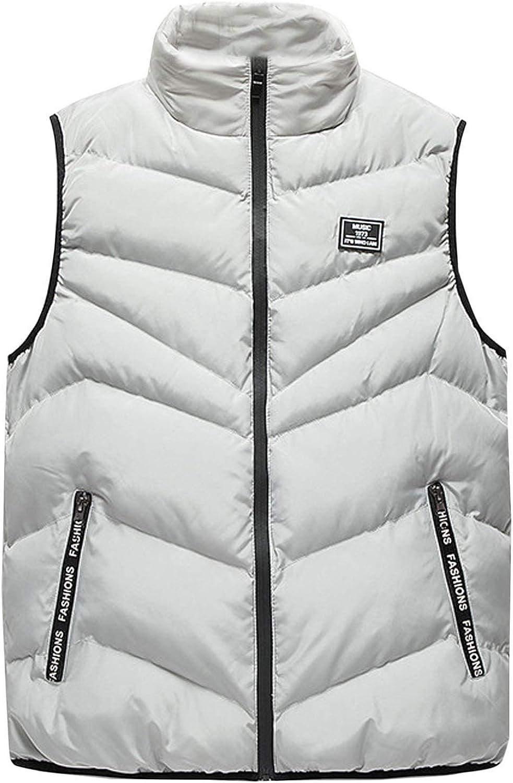 Flygo Men's Lightweight Down Vest Outdoor Water-Resistance Puffer Vest Jacket