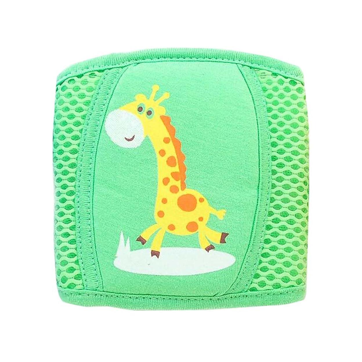 粘り強い息子上に幼児ウォーキング膝パッドアンチフォールアジャスタブル保護パッド(グリーン)