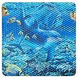 Sanixa PA173 Design Duscheinlage Anti-Rutsch Delfin Matte Duschmatte blau 52x52