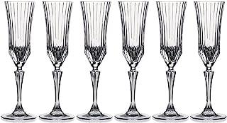 RCR Adagio Flute Glass Set Of 6, 180 ml