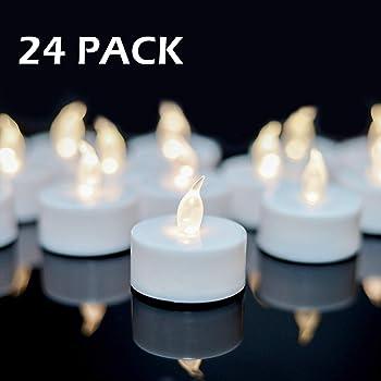 YIWER Chauffe-Plats r/éaliste /à Piles Faux Bougie avec Jaune Chaud Ampoule Lumi/ère Flamme vacillante sans Flamme Bougies Polypropyl/ène 100pcs Bougies LED