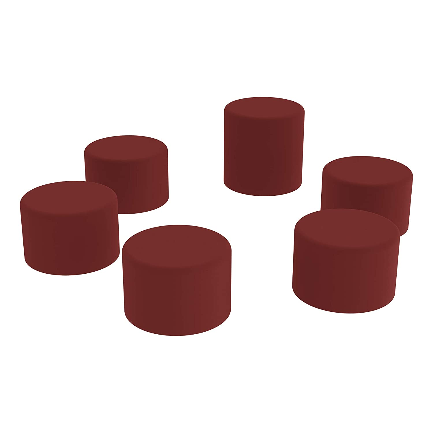 18 H Black Learniture Shapes Series II Vinyl Soft Seating Stool Cylinder