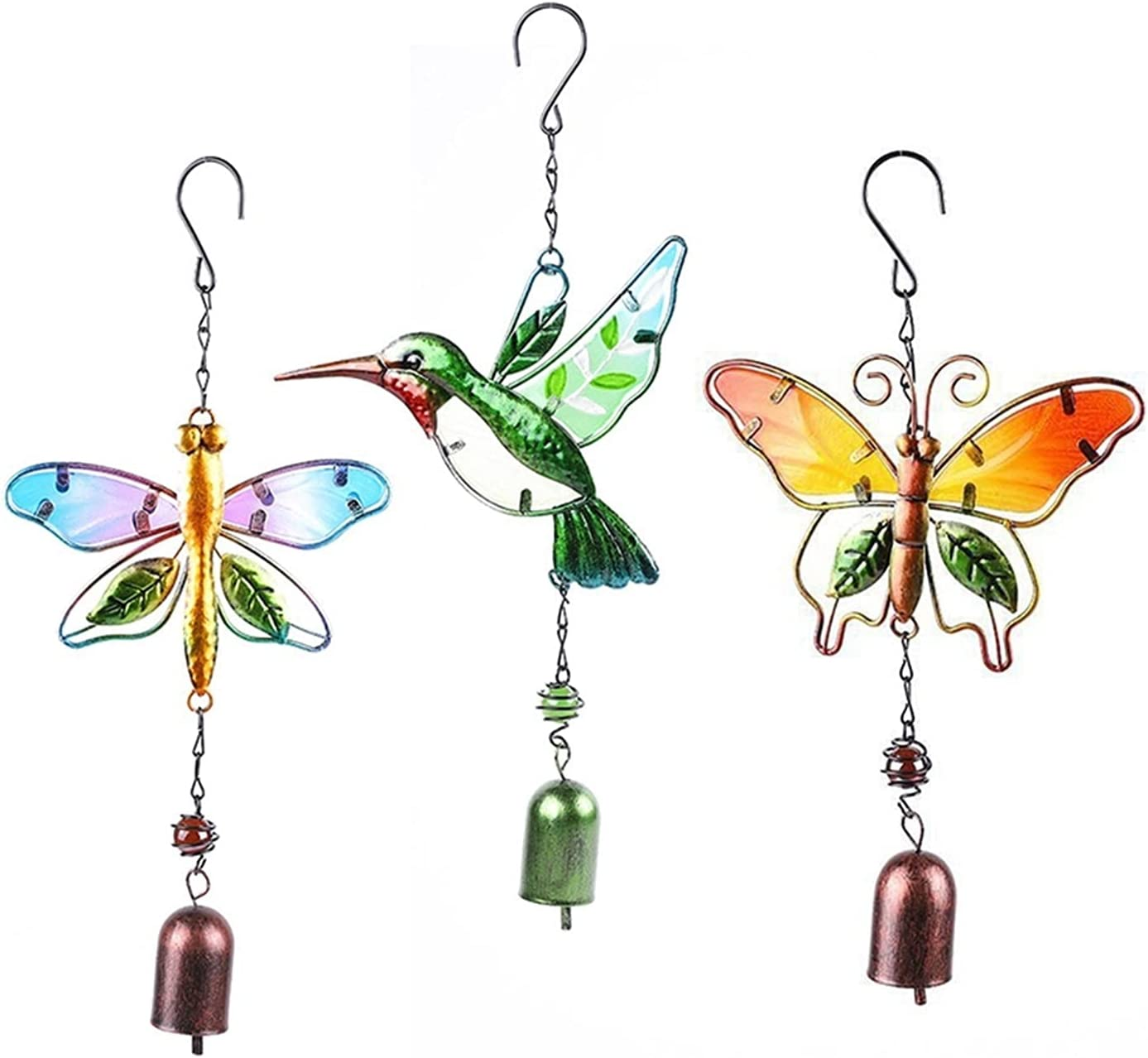 YHMY NEW Wind Sculptures Spinners 3PC Dragonfly Win Butterfly Bird Atlanta Mall