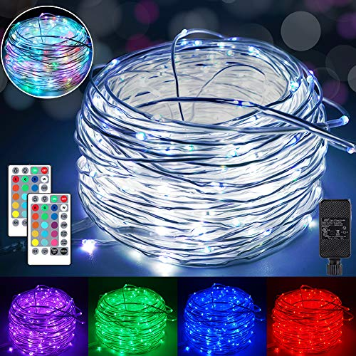 132ft Led Rope Lights Outdoor String Lights with 400 LEDs,16 Colors Changing Waterproof Starry Fairy Lights Plug in for Bedroom,Indoor,Patio,Home Decor