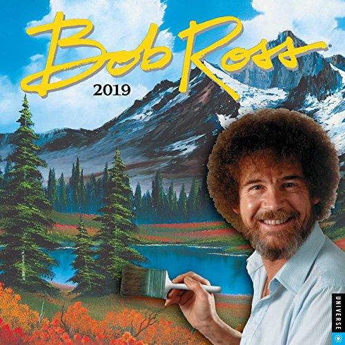 Bob Ross the Joy of Painting 2019 Square Wall Calendar