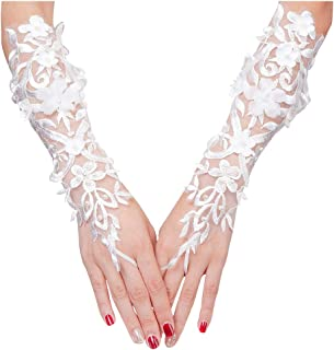 VITORIA'S GIFT The Bride Marriage Dress Gathered Rhinestone Lace Sequins Satin Bridal Party Gloves Driving Wedding Gloves