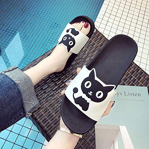 Noctiflorous Zapatillas de Ducha Transpirables,Use Sandalias Gruesas, Sandalias de casa Antideslizantes y Zapatillas Blancas_40,de baño para el hogar Zapatillas