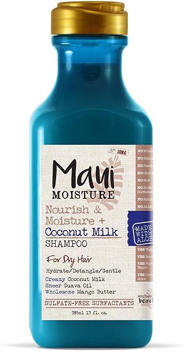 Maui moisture shampoo latte di cocco 12 oz (nutrizione/umidità) (385ml) 18051W