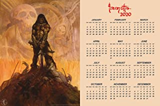 Barbarian by Frank Frazetta 2020 Calendar Poster 12x18 Inch
