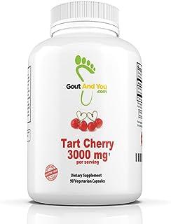 Tart Cherry Extract - 3000 mg Per Serving - 90 Capsules Gluten-Free