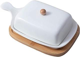 YUNLAN Réservoir d'étanchéité de Beurre Nordique Blanc céramique Blanc avec lid Fromage Serveur de Stockage détenteur de P...