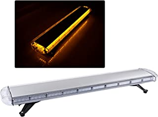Amber 88 LED High Intensity Warning Hazard Emergency Beacon Car Truck Construction Strobe Tow Light Bar Top Roof