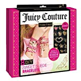 Make It Real - Juicy Couture Sweet Suede Bracelets. DIY Bracelet Making Kit for Girls. Design and Create Girls Bracelets with Suede Cord, Beads, Gold Chains and Juicy Couture Charms