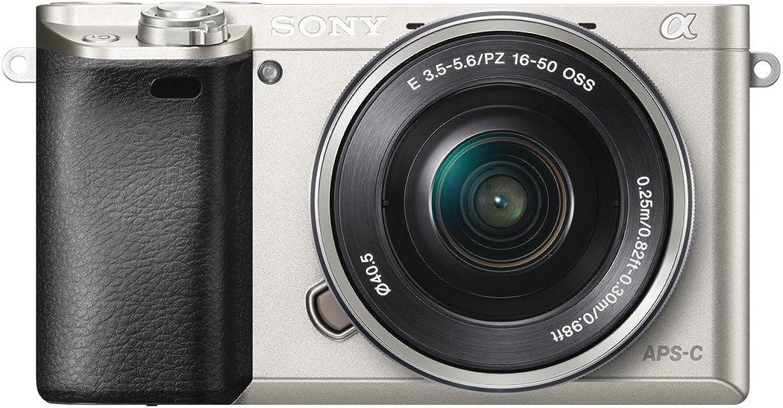 Sony A6000 - Cámara EVIL de 24 Mp (pantalla LCD 3 estabilizador óptico vídeo Full HD WiFi) plateado - Kit cuerpo con objetivo 16 - 50 mm