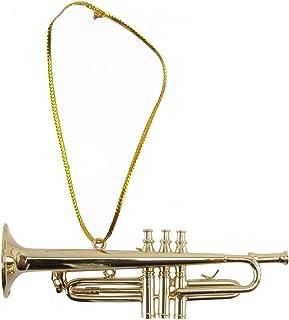 Treasure Gurus Miniature Trumpet Musical Instrument Realistic Ornament