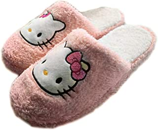 Lifestar Hellokitty Plush Soft Warm Autumn Winter Home Slippers