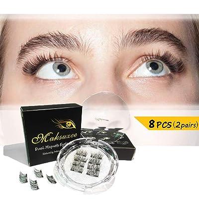 Maksuzee Half-Eye Magnet Eyelashes Dual Magneti...