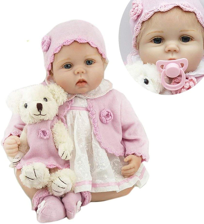 buen precio ZIYIUI DOLL Reborn Baby Dolls Dolls Dolls 22 Pulgadas muñecas recién Nacidas Realista de Silicona de Vinly Regalos Hechos a Mano 55 cm Real Life Baby Ojos Azules realistas  muy popular