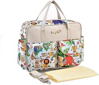Yimidear Moda Diseñador Floral Impermeable Mochila Pañal
