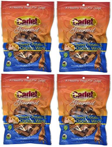 Cadet Gourmet 01307 14 oz Sweet Potato & Chicken Wraps Dog Treats - Quantity 4 bags