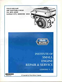 INSTITUTE OF SMALL ENGINE REPAIR & SERVICE MANUAL LESSONS 9-12 All Examination Pages Filled In. Answer Card Not Included.