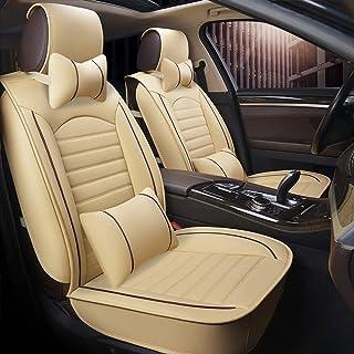 JKHOIUH Ajuste completo de tela plana cubierta de asiento de cuero para automóvil, conjunto combinado de cubierta de asiento para Excelle Jetta Accord Emgrand Escort Cavalier Levin GM cubierta de asie
