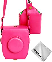 First2savvv full body Precise Fit PU leather digital camera case bag cover with should strap for Fujifilm Fuji Instax SQ10 + Cleaning cloth XJD-SQ10-02