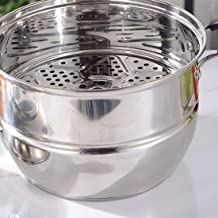 MSWL Steamer Stainless Steel Thick Double Bottom Household Induction Cooker Gas Stove With Small Stainless Steel Pot Steam...