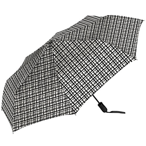 The Ultimate UmbrellaTM by ShedRain 1.2m / 47.3' Arc(Black and White)