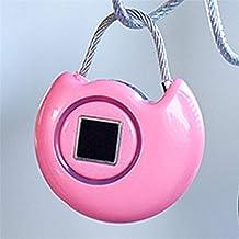 vingerafdruk hangslot vingerafdruk intelligente hangslot beveiliging USB Smart Travel Lock voor buiten, gym, school, kast,...