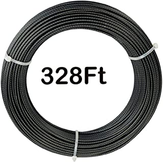 """3//64-1//16/"""" X 500/' Coated Aircraft Cable 7X7 Vinyl Control Wire Rope Galvanized"""