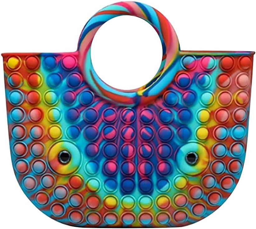 Silicone mart Large Size Handbag Basket Bubble Max 79% OFF Antistress Push Autism