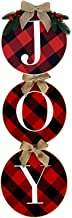 YoMont Christmas Red Black Wreath,Holiday Festival Celebration Indoor/Outdoor Front Door Wall Party Decoration (Black and ...
