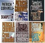 Set of 6 Patricia Cornwell Books - Scarpetta, From Potter's Field, Point of Origin, Cruel and Unusual, The Last Precinct and Cause of Death