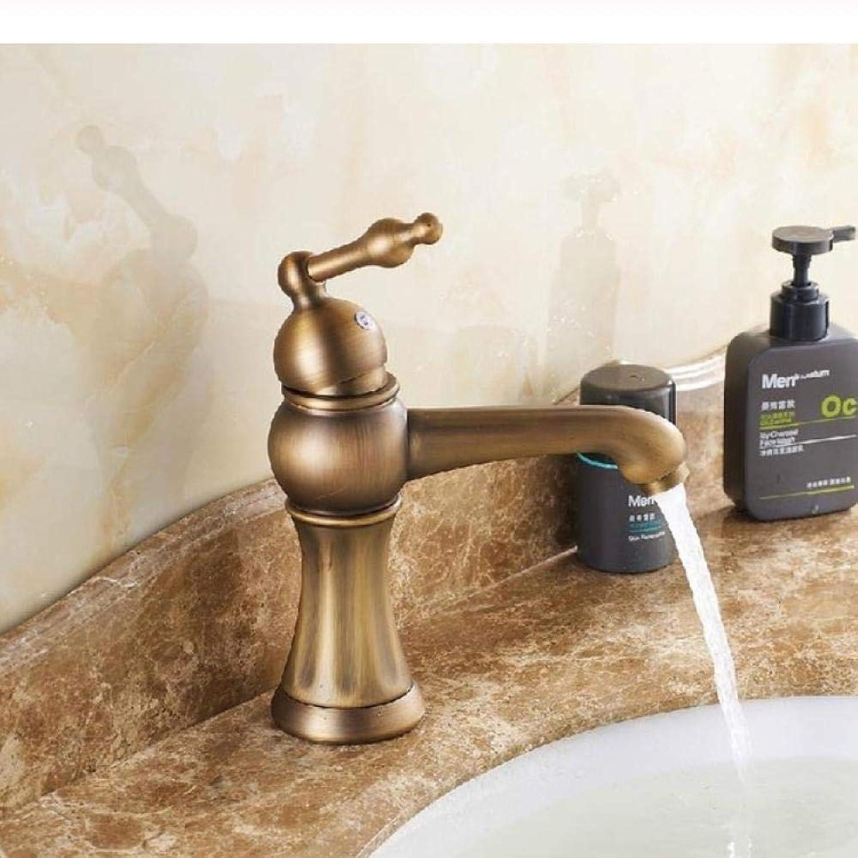 Lddpl Wasserhahn Waschtischarmaturen Antike Bad Becken Mischbatterie Messing Warmen Und Kalten Wasserhahn Vintage Einlochmontage Hhne