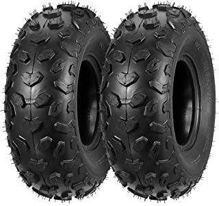 Set of 2 MaxAuto ATV Tires 19x7-8 19x7x8 19x7 8 ATV UTV Off-Road Tires All-Terrain Mini Bike Tires 4PR Tubeless Sport Tires