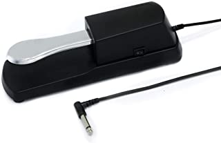 """EOM MUSIC Universal Sustain Pedal with Precision Action for Half Pedal Techniques-Versatile Sustain Pedal for Keyboard, Midi, and Digital Piano with Polarity Switch-5 Foot Cable with 1/4""""Jack"""
