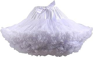 FOLOBE Tutu Costume Donna Balletto Danza a più Strati Gonna a Pieghe Adulto Lussuoso soffice Chiffon Petticoat Tulle Tutu ...