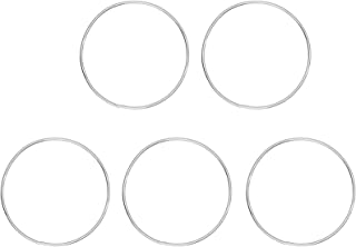 LLYX 5 STUKS Ambachtelijke Hoops Krans Frame Set Metalen Hoepels Zilver Macrame Hoops Ring Voor DIY Ambachten Dream Catche...