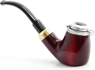 Mr. Brog Full Bent Smoking Tobacco Pipe - Model No: 21 Old Army Mahogany - Pear Wood Roots - Hand Made