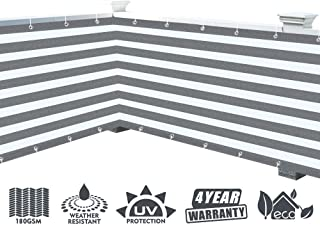 XiaZ Fence Privacy Screen 180GSM, Decorative Privacy Cover Netting for Yard, Porch, Pool, 3' x 16'4