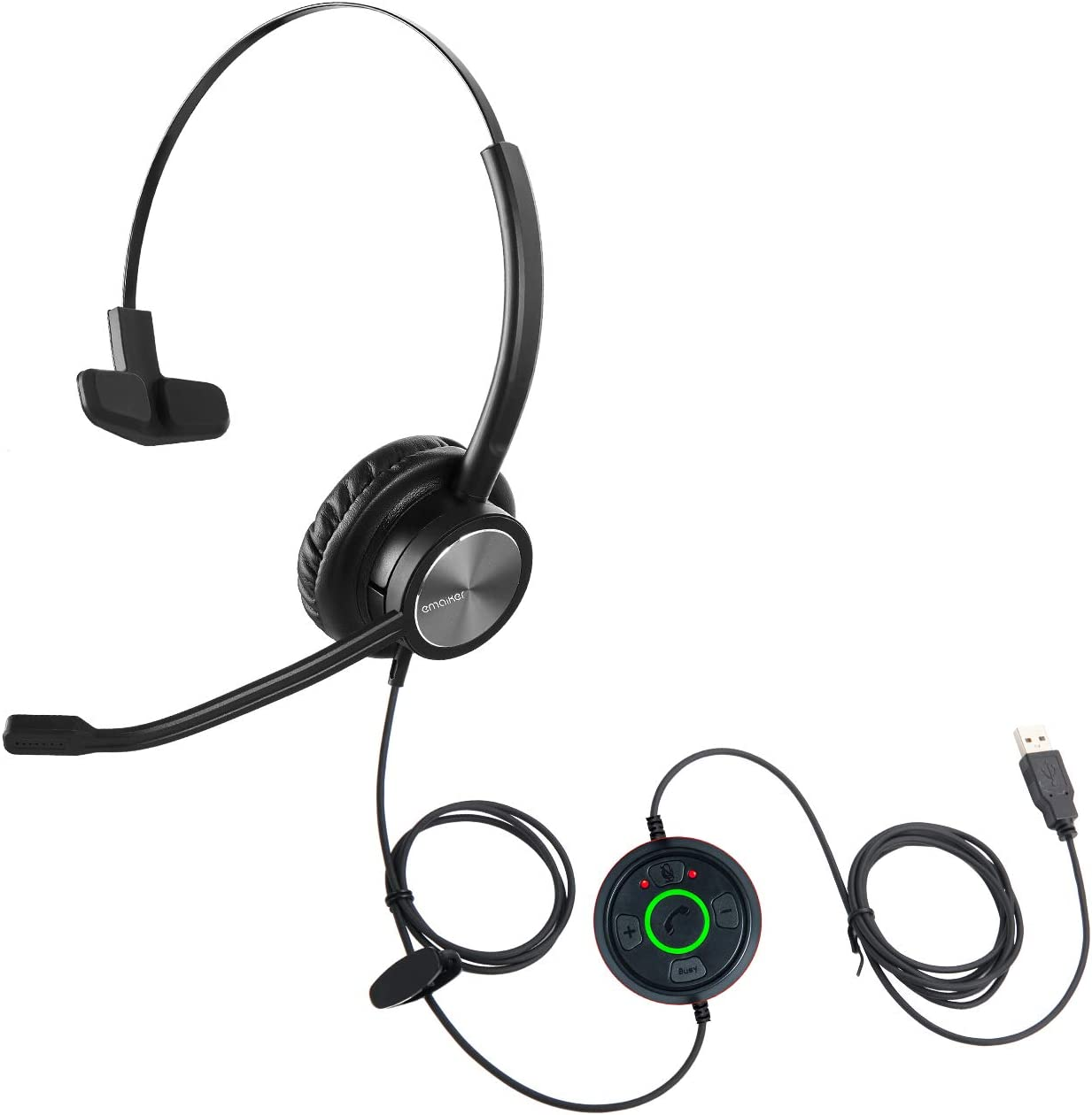 Emaiker One Ear USB Headset with Mic Microphone for Special price Laptop PC 5 ☆ popular Mu