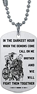 FlowerAT in The Darkest Hour When The Demons Come Call on me Brother we Will Fight Them Together Necklace