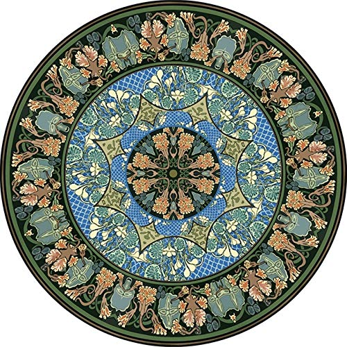 CXSD Round Area Rugs Modern Area Large Rugs Living Room Bedroom Rugs Decorative Rugs, Oriental Rugs Restaurant Rugs, Interior Hall Area Mats, Children's Playroom (Color : C, Size : 120cm)